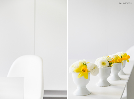 Frühlingsdeko für den Tisch