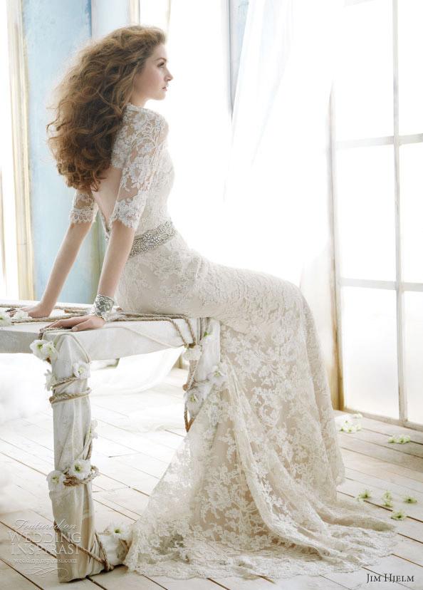 8a01b51b1aa0c فساتين زفاف من جيم هيلم الرائعه 2012
