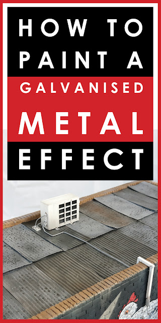 How to paint a weathered galvanized metal effect for scale models and dioramas