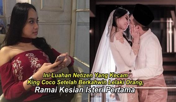 Ini Luahan Netizen Yang Kecam King Coco Setelah Berkahwin Lelaki Orang, Ramai Kesian Isteri Pertama