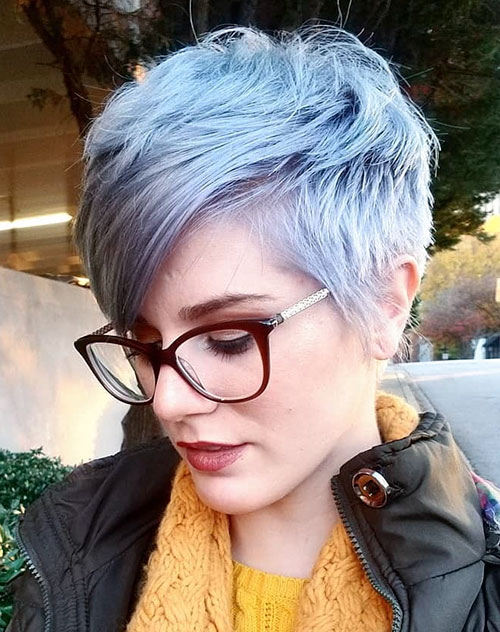 pixie cut grey color 2019