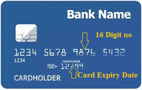 debit card 16 digit no & expiry date