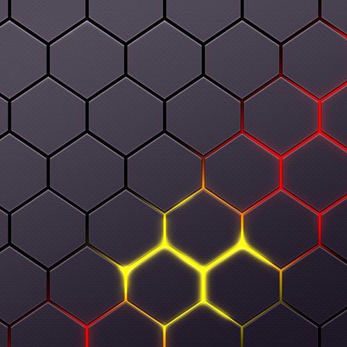 Glowing Hexagon Magma Wallpaper Engine