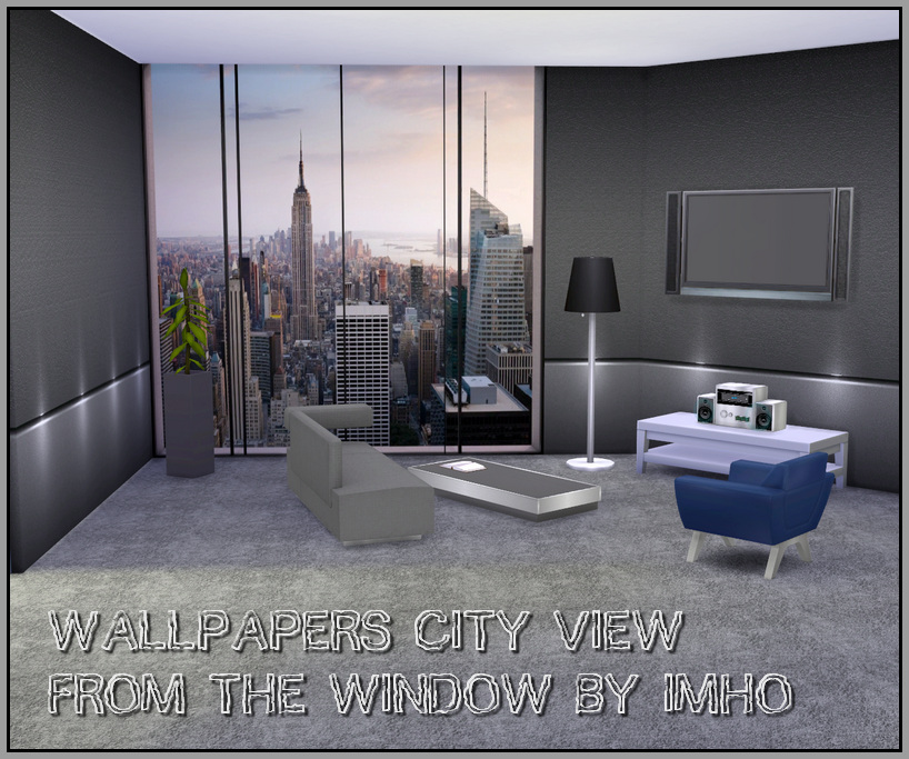 Sims 4 Cc S The Best Windows By Tingelingelater: IMHO Sims: Wallpapers City View From The Window The Sims 4