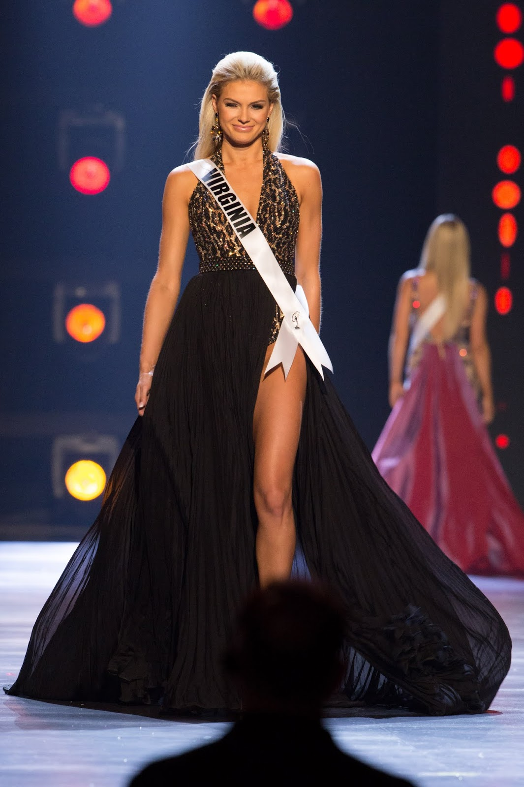 4b31446c1b Miss Tennesse looked ethereal in her Jovani champagne gown with rose gold  applique that complements her skin perfectly. Her presence on the stage  looked ...