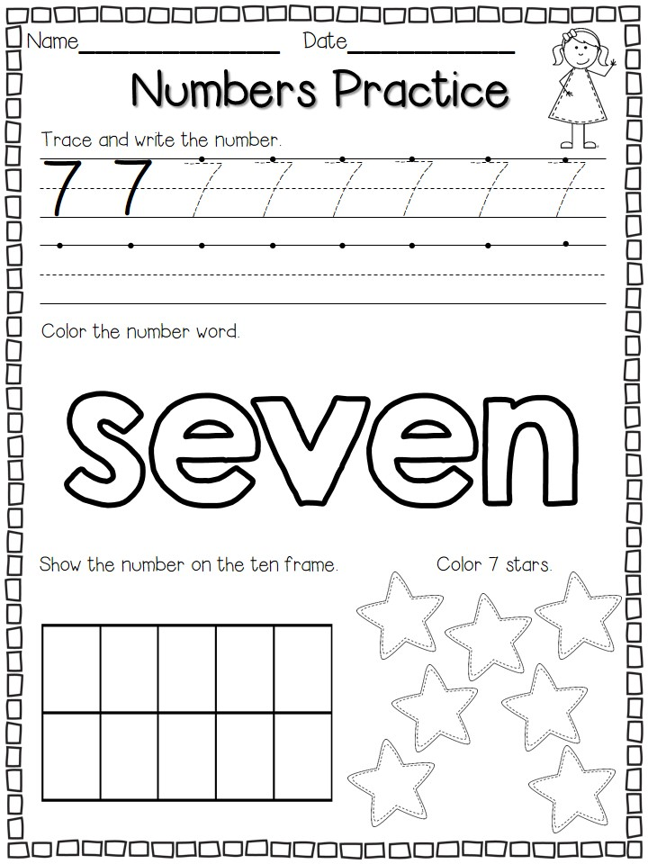 Numbers Practice FREEBIE! - Flying into First Grade