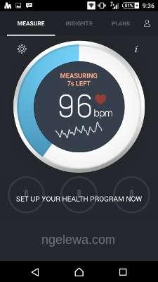 Tampilan utama instant heart rate