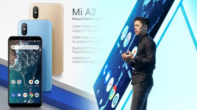 Harga dan Spesifikasi Xiaomi Mi A2 dan Mi A2 Lite