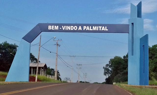 Cidade de Palmital e o portal prontinho!