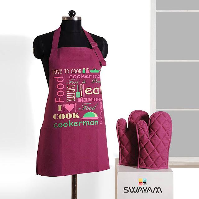 cotton digital apron