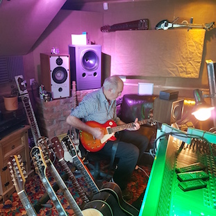 Paul Wiggin in the studio