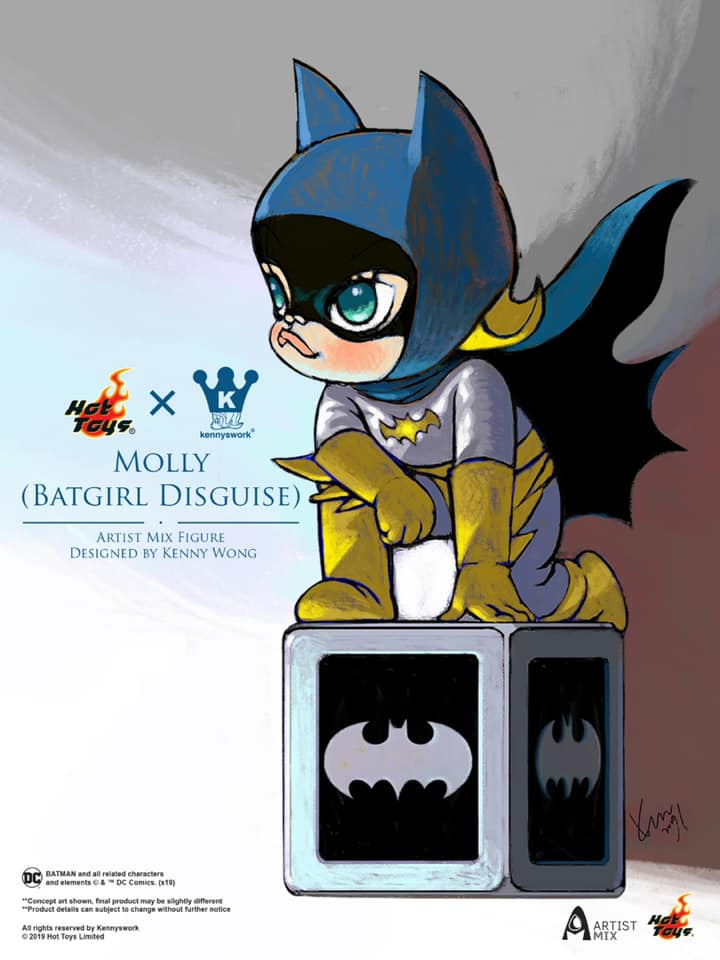 5c4925697 Hot Toys' MOLLY (BATGIRL DISGUISE) ARTIST MIX by Kenny Wong
