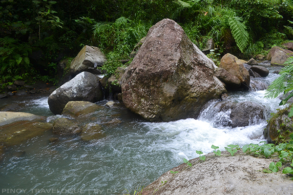 Boulders and stream surge