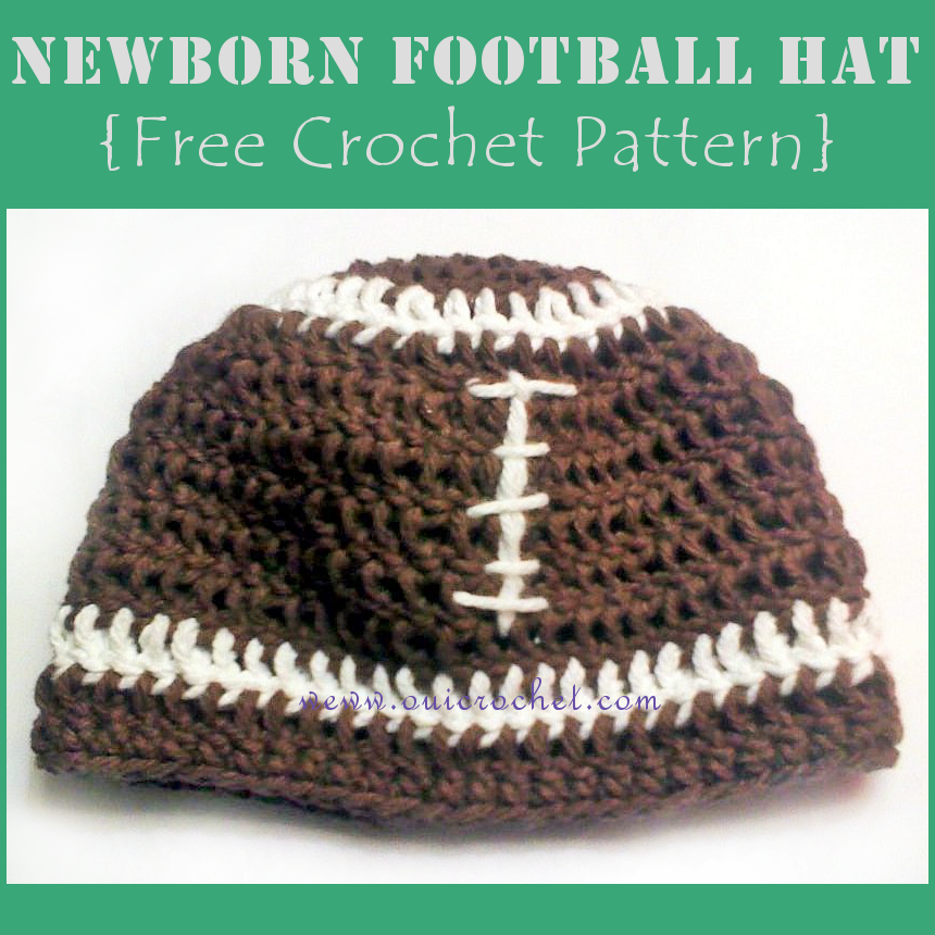 Free Crochet Pattern Football Diaper Cover : Oui Crochet: Newborn Football Hat {Free Crochet Pattern}