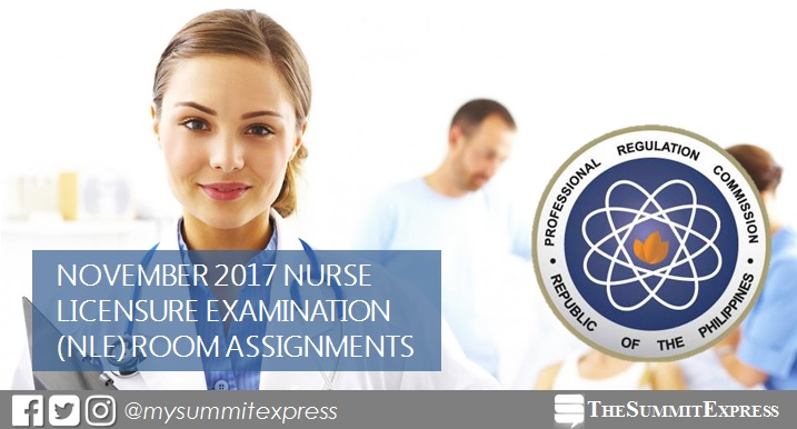 FULL LIST: Room Assignment November 2017 NLE nursing board exam