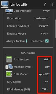 Limbo CPU settings