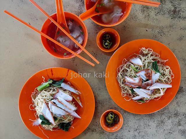 Kong Kee Wanton Mee @ Restoran Oktober Coffee Shop in Johor Jaya 港記云吞面