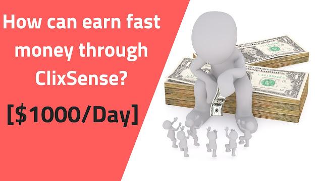 make money through clicksense