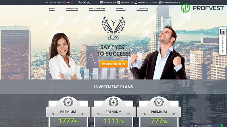 Yesss Capital LTD обзор и отзывы HYIP-проекта
