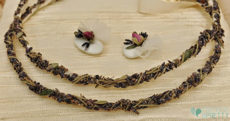 Lavender flowers wedding stefana crowns