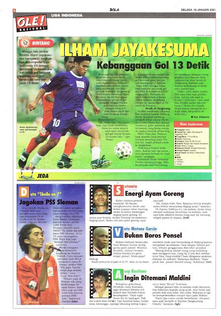 LIGA INDONESIA PROFIL BINTANG ILHAM JAYAKESUMA