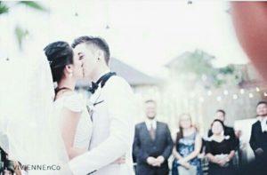 Foto pernikahan celine evangelista dan stefan william ciuman