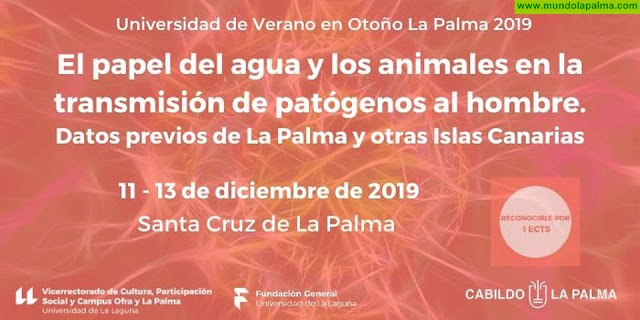 El Cabildo y la ULL celebran un curso sobre el papel del agua y los animales en la transmisión de patógenos al hombre