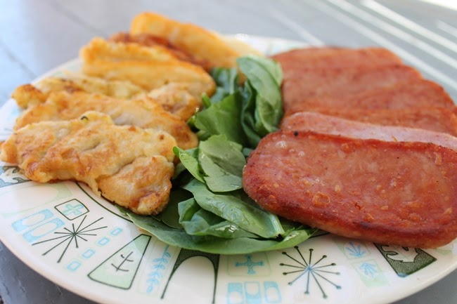 1950s retro spam and banana fritter recipe for breakfast or dinner The 1950s Kitchen