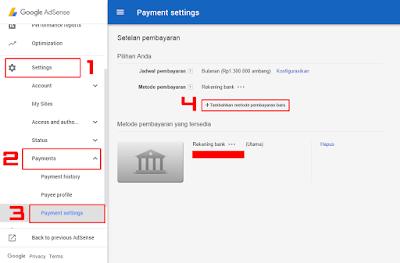 Cara Menambah Metode Pembayaran Google Adsense IDR 18