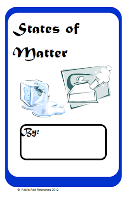 Free printable states of matter booklet for your primary classroom - from Raki's Rad Resources