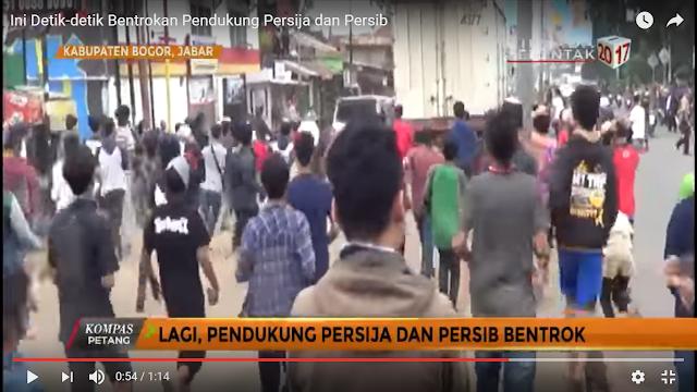 Mencekam, Detik-Detik Bentrokan The Jakmania dan Pendukung Persib Bandung di Bogor