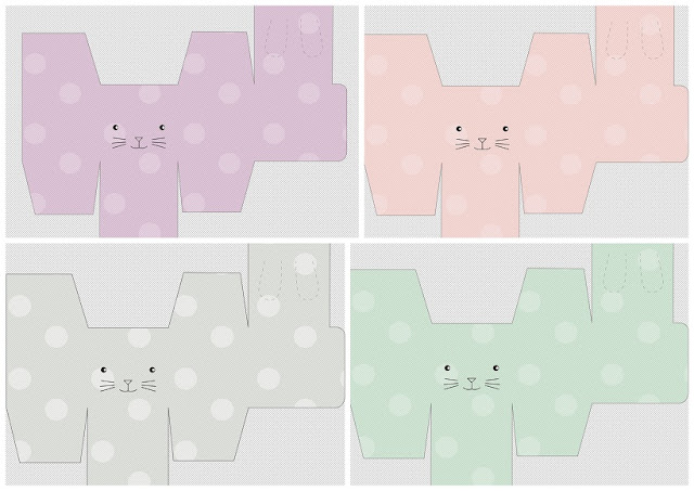 Bunny Free Printable Boxes.