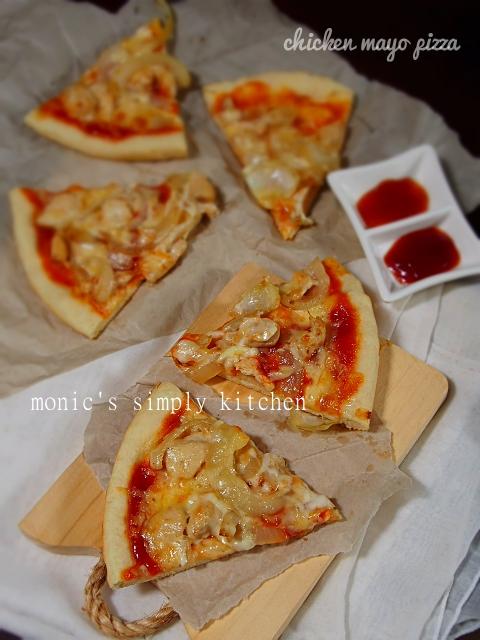resep chicken mayo pizza