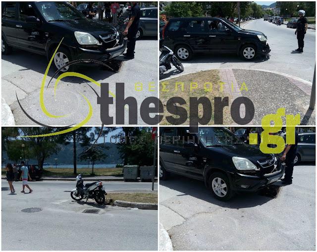 Τροχαίο ατύχημα με τραυματισμό στην Ηγουμενίτσα (+ΦΩΤΟ)