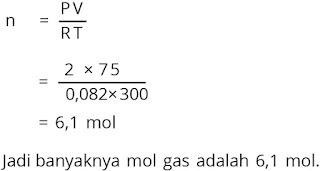 Jawaban soal fisika bab gas ideal nomor 1