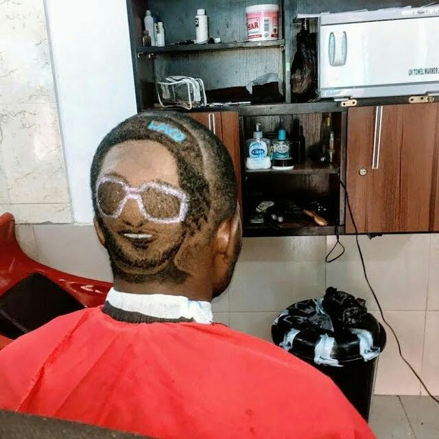 So this fan actually carved told his barber to carve Waconzy's face on his head