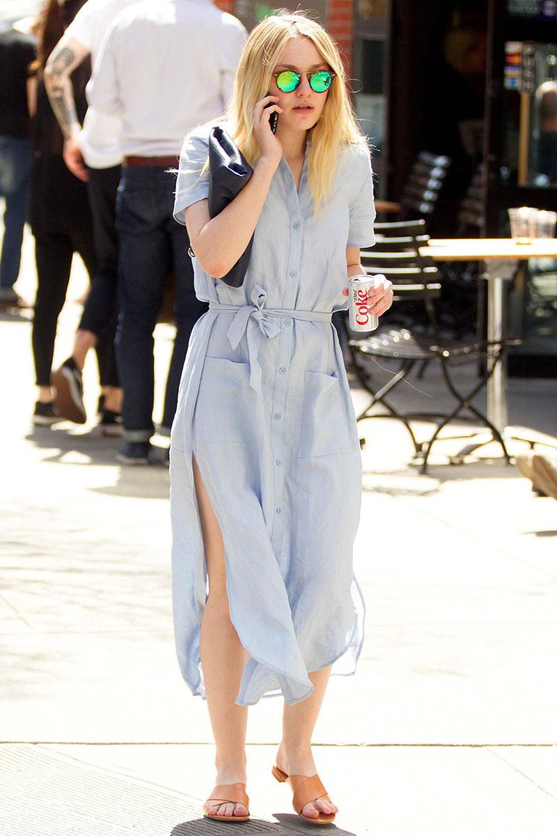 Dakota Fanning Street Style {Cool Chic Style Fashion}
