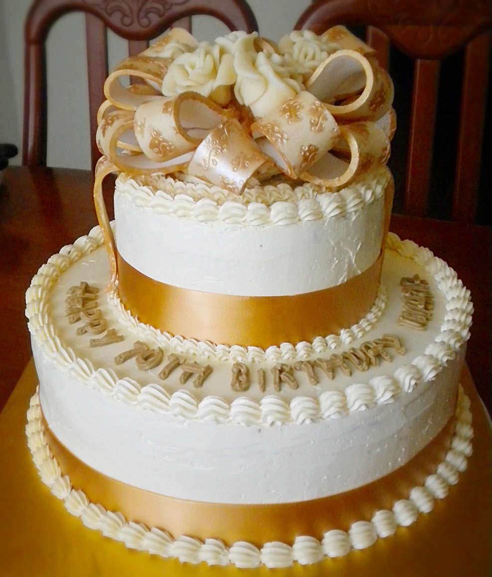 Cake With Make Up And Pearls