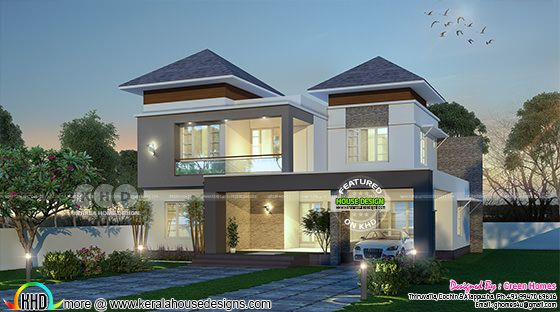 2550 square feet modern 4 bedroom home plan