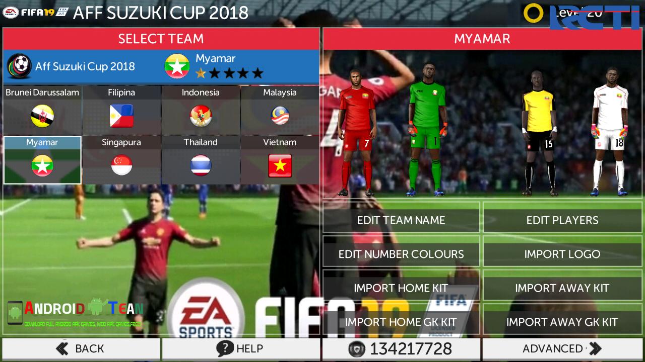 FTS Mod FIFA 19 Full League Top Eropa & Asia Offline for