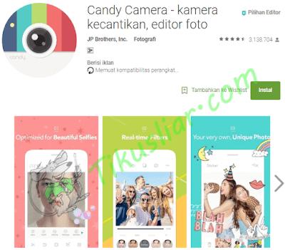 Aplikasi kamera selfie untuk android terbaik nougat