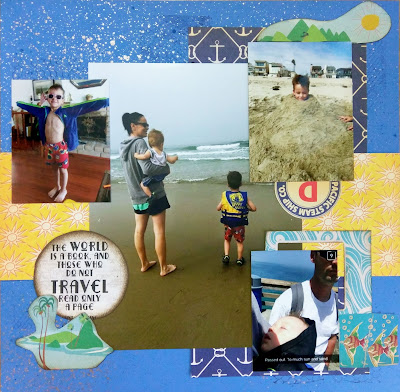 A Day At The Beach Layout