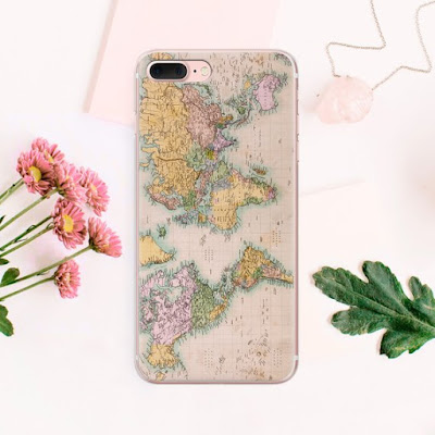 World Map iPhone 8 Case