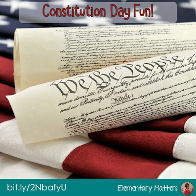 Fun for Constitution Day - This post has suggestions, ideas, and 3 freebies for Constitution Day and other USA Patriotic holidays.