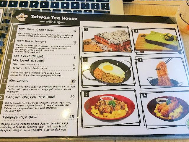 menu di taiwan tea house
