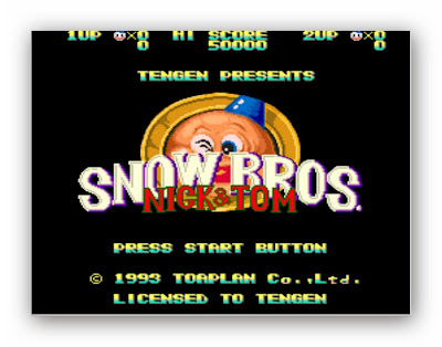 Snow Bros Nick & Tom Atari Oyunu (Nostalji)