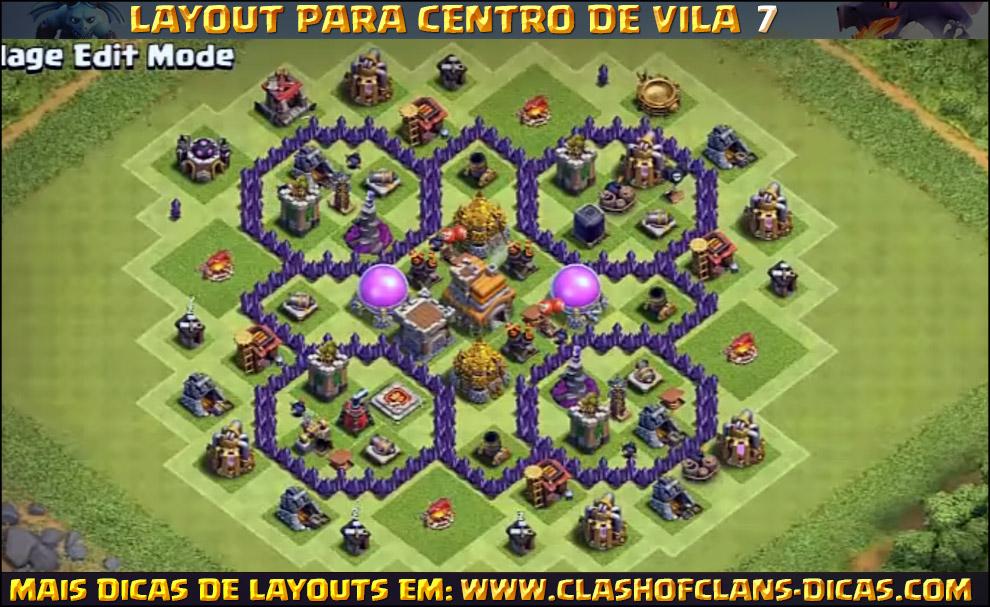 layouts de cv7 para clash of clans clash of clans dicas