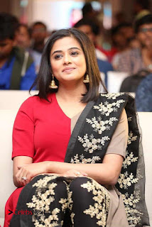 Priyamani Pictures in Red Salwar Kameez at Mana Oori Ramayanam Audio Launch 0002