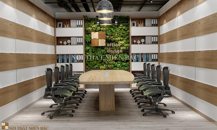 Tư vấn thiết kế phòng họp gần gũi với thiên nhiên, tạo cảm giác thoải mái cho mọi người