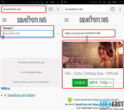 Cara Download Video Youtube Dengan id.savefrom.net Pada Smartphone